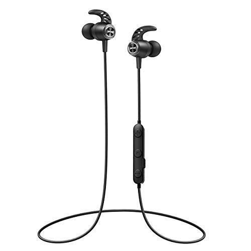 Mpow S16 Bluetooth 5.0 Kopfhörer, 12 Stunden Spielzeit/ Stereo Bass, IPX7 Wasserdicht SportKopfhörer In Ear für Joggen/Laufen, Magnetisches Headset mit HD-Mikrofon