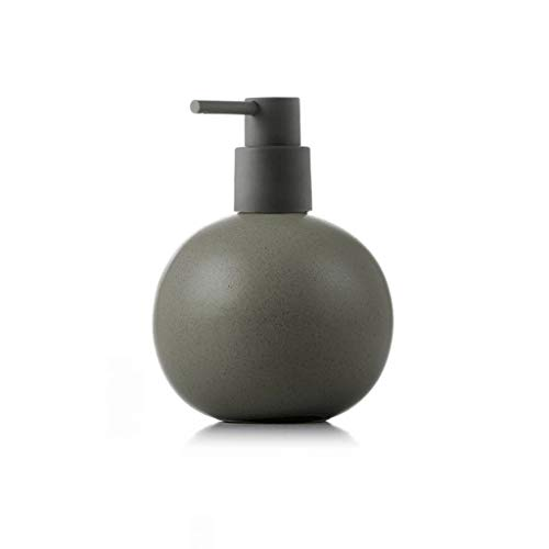 ZANZAN Bomba dispensador de jabón esférica dispensador de jabón de cerámica grande bomba de jabón, 520 ml/18 onzas dispensador de ducha para el hotel Home-7 colores (color: gris)