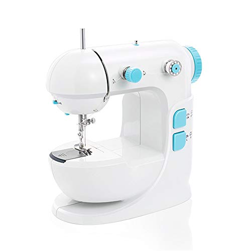 Mini máquina de Coser Máquina de Coser portátil de artesanía Mending máquina con 12 Puntadas incorporadas Doble Rosca y Velocidad for Principiantes (Color, tamaño : 22x12x22cm)