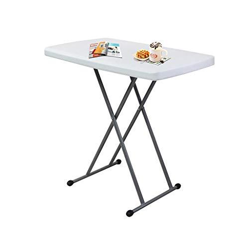 Todeco Verstellbarer Klapptisch Balko, Gartentisch klappbar 76 x 50 x 51/63/74 cm, Kompakter Tisch Kleiner Esstisch, Couchtisch weiß, für Camping BBQ Party Buffet Hochzeit