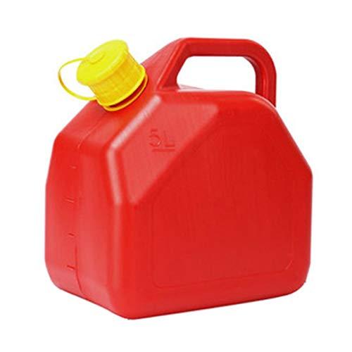Bidón para combustible El gas plástico tanque de aceite espesado Combustible Gasolina Diesel del tanque de gasolina de contenedores de plástico portátil, 5L / 10L / 20L Diesel tambor coche de reserva