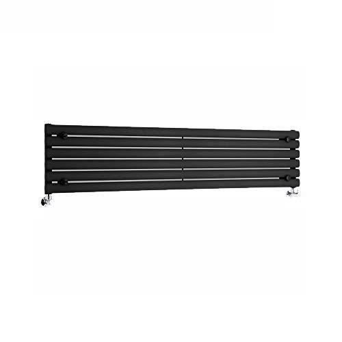 Hudson Reed Radiador de Diseño Vertical - Negro - 1780mm x 560mm x 60mm - 1401 Vatios - Rombo