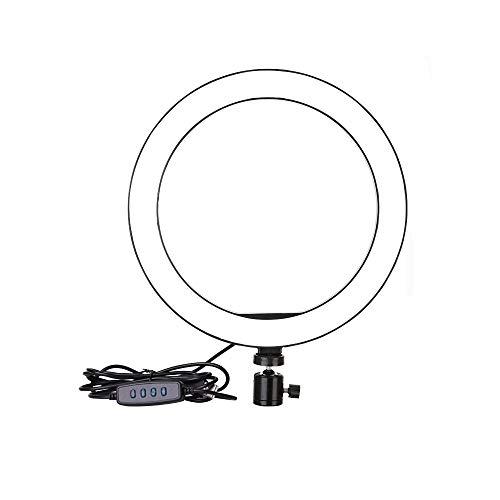 Ys-s Personalización de la Tienda Luz del Anillo LED con el trípode y Soporte for teléfono for Transmisión en Vivo y vídeo de Youtube, Regulable de Tres iluminación Maquillaje modesDesk Anillo de luz