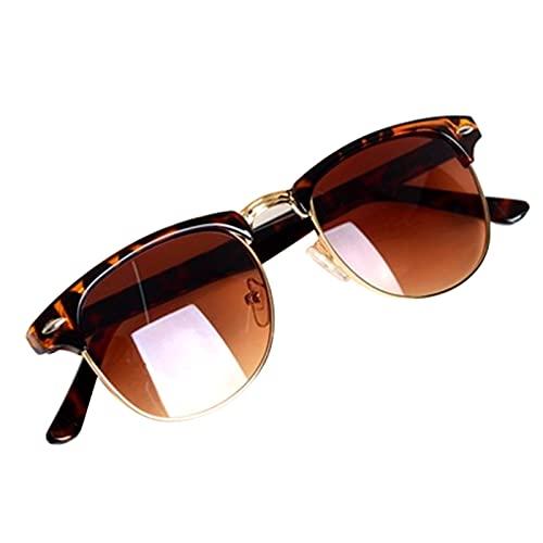 HUALUDA Cool Eyewear Vintage Retro Unisex Gafas de sol Mujeres Hombres Gafas de Sol Accesorios de Viaje Dropshipping (Color: Marrón)