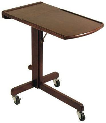 Over Bed Table Rolling Desk Top Food Indianapolis Mall Laptop Special price for a limited time Adjustab Tray Wooden
