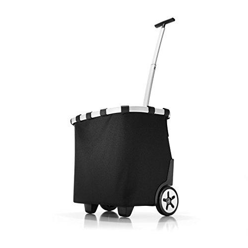 reisenthel carrycruiser OE7003 black – Einkaufstrolley mit 40l Volumen – Mit Clip-Halterung zum Befestigen am Einkaufswagen – B 42 x H 47,5 x T 32 cm