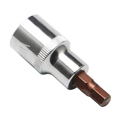 perfk Destornillador de Vástago Del Adaptador Del Zócalo de La Llave Hexagonal Duradera Universal de Acero - 7mm