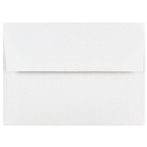 JAM PAPER Sobres de Invitación - 120,7 x 165,1 mm - Blanco - Paquete de 50