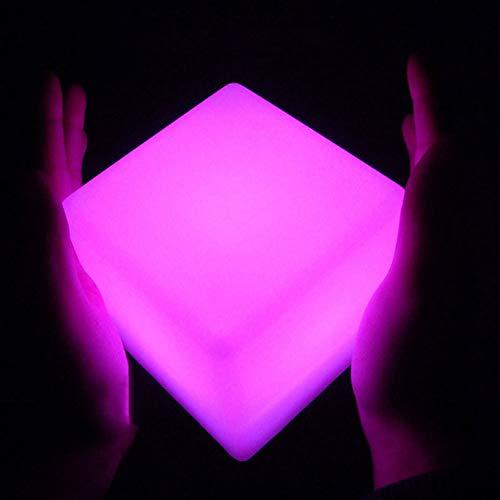 LED CUBE CUBE RGB 16 Colores Cool Cosmic Cube Lights con control remoto Lámpara de ánimo IP65 Wter a prueba de humor Lámpara Noche Romántico Interior al aire libre Iluminación decorativa