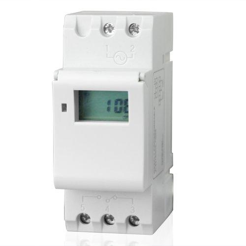 Práctico Carril DIN Temporizador Digital Programable Interruptor THC15A AC 12V