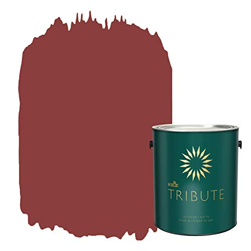 KILZ TRIBUTE Interior Matte Paint and Primer in One, 1 Gallon, Haute Red (TB-97)