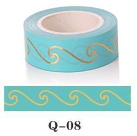 Washi Tape Dot Triangle Heart Diamond Green Foil Washi Tape 15MM *...