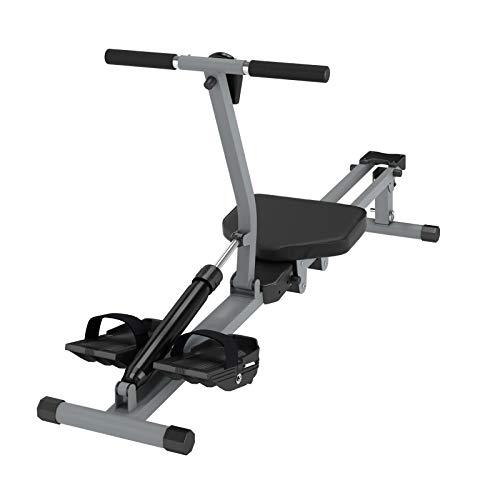 DlandHome YKTH-PM-B Máquina de remo, cuerpo completo, ejercicio de resistencia ajustable de 12 niveles