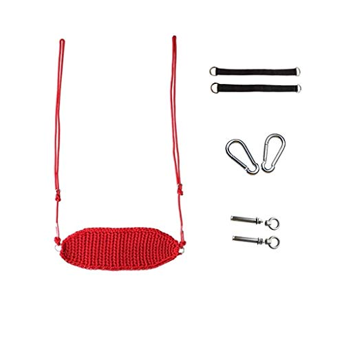 zxb-shop Columpios Columpios de Juegos portátiles Transpirables de Columpios for niños Colgante Silla Diseño ergonómico Adecuado for Interiores y Exteriores (Color : Red-B)