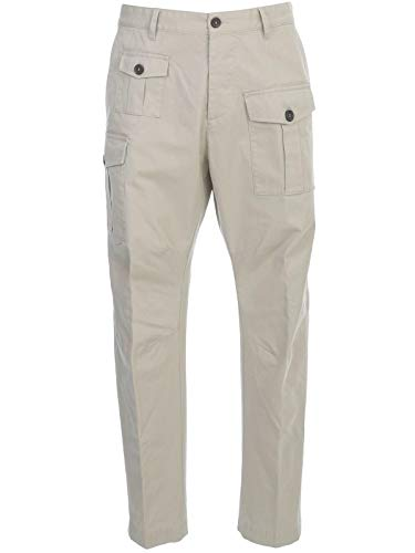 DSQUARED2 Luxury Fashion Heren S74KB0382S41794800 Beige Broek | Lente zomer 20