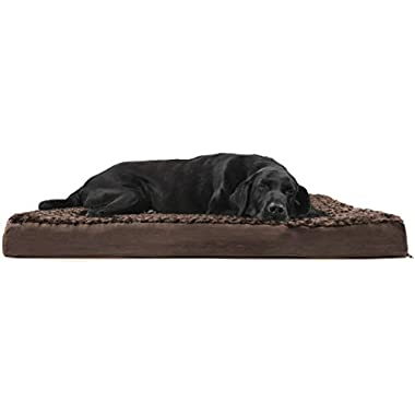 Furhaven Pet Dog Bed | Deluxe Orthopedic Ultra Plush Mattress Pet Bed for Dogs & Cats, Chocolate, Jumbo