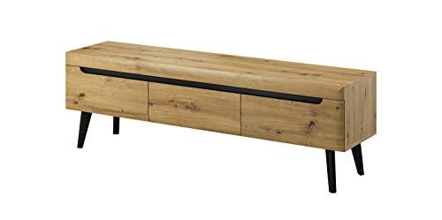 Furniture24 Tv Schrank NORDI Lowboard Unterschrank Skandinavische Stil (Artisan Eiche)