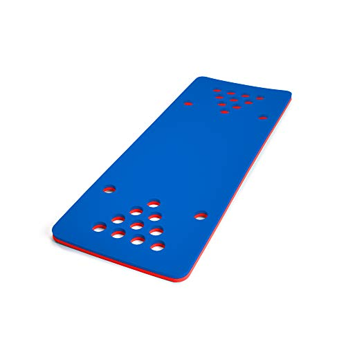 Floatation iQ HydraPong Pong Floating Swimming Pool Water Lake Party Game Foam Board Mat Pad, Red/Blue