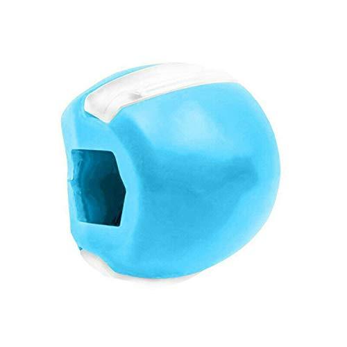Youning Jawzrsize Gesichtsstraffer Kiefer Trainer Doppelkinn-Übungsgerät Doppelkinn Entfernen Gerät Mund Gesichts Muskel Training Für Kräftigen Und Straffen des Kiefer (Blau)