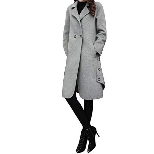 Snakell Manteaux Femme Hiver Chaud Slim Gilet Bouton Épais Blouson Casual Parkas Trench Coat Veste Classique Long Manteau de Laine Coupe-Vent Manteau de Mode Costume