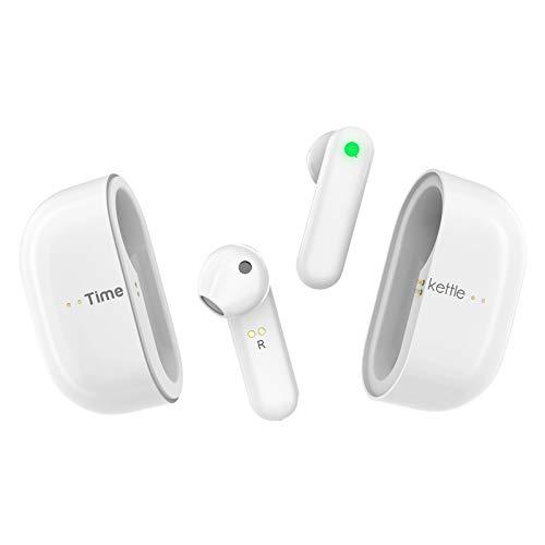 Timekettle M2 Übersetzer - Bluetooth Kopfhörer + Sprachübersetzer mit APP, 93 Dialekte 40 Sprachen, Touch-Steuerung Language Translator für IOS/Android, mit Ladekoffer, Business Konferenz Lerne
