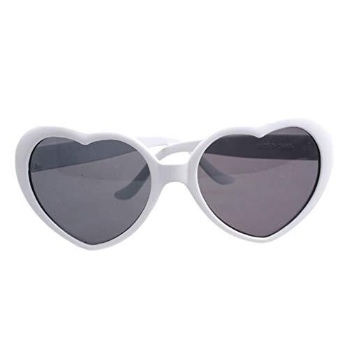 Sharplace 1 Pieza Gafas de Sol de de Mujer, Resistentes a Impactos,Inastillables - Blanco, 5.5 x 6cm