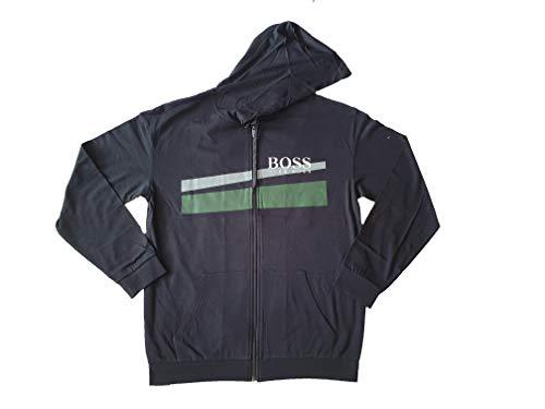 Hugo Boss hombres negro con capucha sudadera con capucha auténtica chaqueta H chándal top XL 50414491