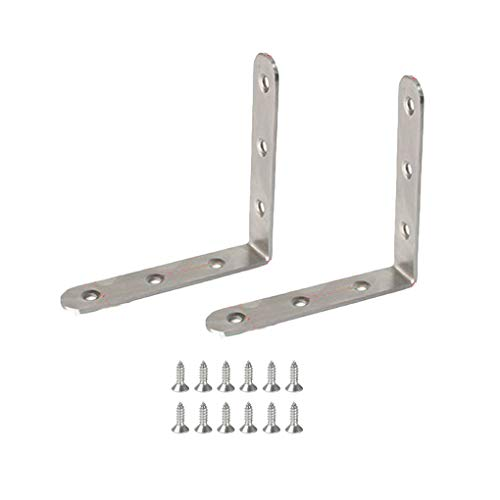 Soporte de metal en forma de L de /ángulo recto de 25 x 16 mm 24 unidades soporte de reparaci/ón de soporte de esquina