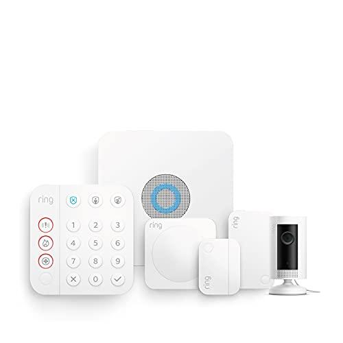 Nuevo kit de 5 piezas Ring Alarm de Amazon (2.ª generación) con Ring Indoor Cam | Sistema de seguridad para el hogar y con vigilancia asistida opcional, sin compromisos a largo plazo