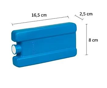 BranQ - Home essential Lot de 2 tapis de refroidissement de 250 ml pour réfrigérateurs touristiques pour lunch, glacière et glacière - En plastique PP - Sans BPA - Bleu - 165 x 80 x 25 mm