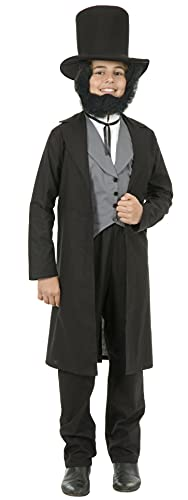 Charades Child's Abe Lincoln Costume, As Shown, Large