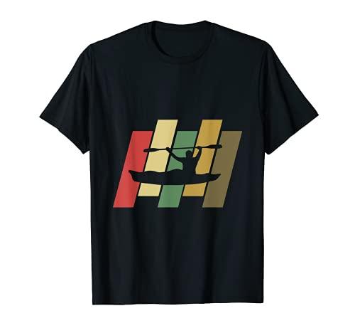 Rétro kayak Pêche T-shirt de cool T-Shirt