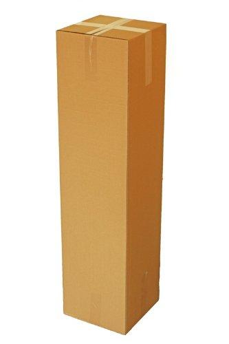 HaGa® Lot de 5 cartons d'expédition pliables 30 x 30 x 120 cm
