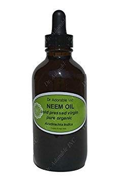 Neem Oil For Skin And Hair 2.2 oz Amber Glass Bottle with Glass Dropper