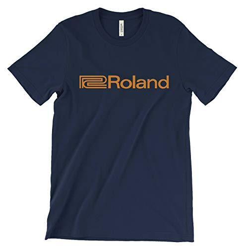 Roland Logo Men T Shirt Electronic Music Equipment Keyboard Synth Boss Rhodes Tee