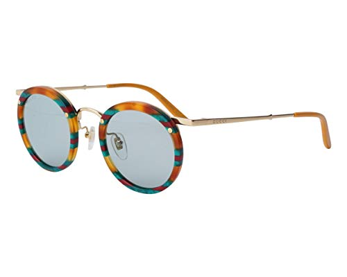 Gucci occhiale da sole GG0674S 004 Havana blu taglia 44 mm Uomo