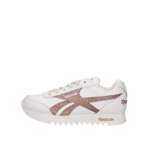 Reebok Royal CLJOG 2 Platform, Zapatillas de Running Mujer, Blanco/Blanco/GOLBRO, 36.5 EU