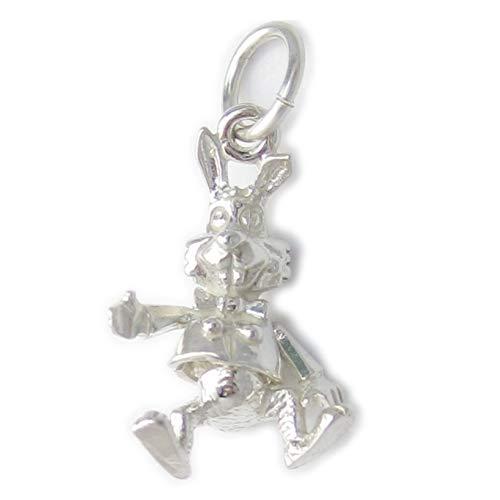 Hase Sterling Silber Anhänger .925 x 1 Kanninchen Hasen Hase Hasen Anhänger ec98