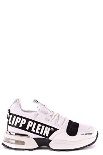Philipp Plein Luxury Fashion Herren MSC1892PXV056N01 Weiss Stoff Sneakers | Jahreszeit Outlet