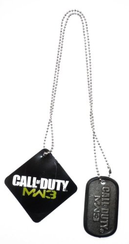 Dogtag 'Call of Duty Modern Warfare 3' - noir/argent