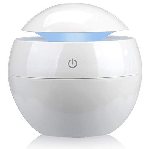 Gesh Difusor de aceite esencial de aromaterapia variable USB humidificador de aire portátil ultrasónico atomizador humidificador purificador de aire led luz nocturna blanca