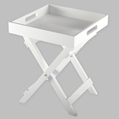 DRULINE Butlers Tray Mini dienblad klaptafel klaptafel serveertafel bijzettafel grijs