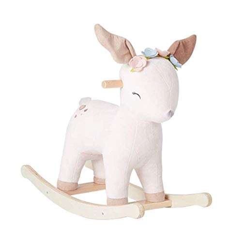 Baby Rocking Horse Ride Toy, Rocking Horse Deer Rocking Chair Solid Wood Toy Child Gift