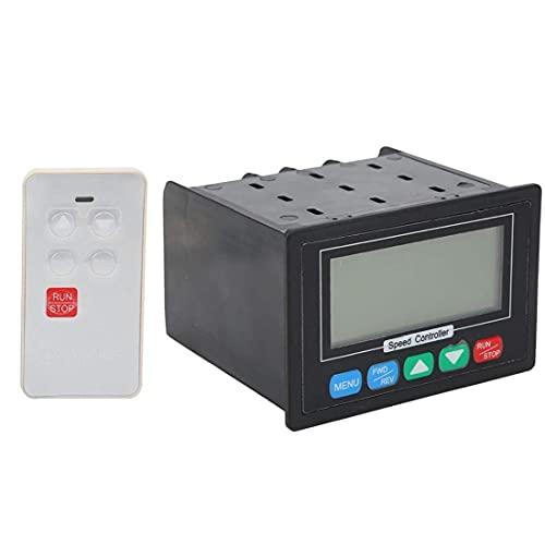 Obelunrp Controlador de Velocidad del Motor 10-55V PWM DC Regulador de señal automático con Control Remoto Herramienta de Bricolaje de Mano