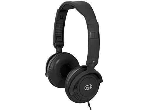 Trevi DJ 605 M haarband Binaural met draadloos, zwarte hoofdtelefoon en micro – headsets en geluidsopnemer (bekabeld, haarband, binnen, oorlus, 20 – 20000 Hz, zwart)