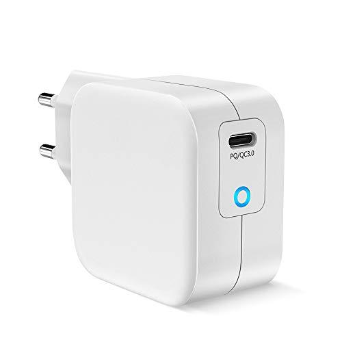 HOPLAZA - Caricatore USB C da 61 W, compatibile con iPhone 11 Pro max/XS/XR/X/8, MacBook Pro/Air, Matebook, Lenovo 720/920, Samsung Galaxy S10