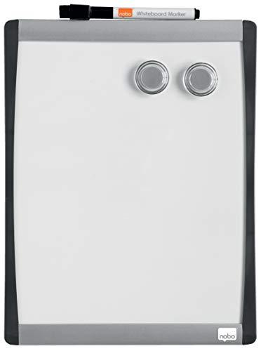 Rexel Magnetische, Trocken Abwischbare Tafel, 280 x 215 mm, Mit Bogenrahmen, Inkl. Marker, Magneten und Montage-Kit, Weiß, 1903778
