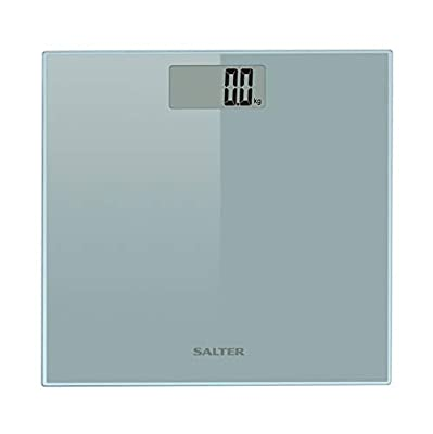 Salter Razor Bathroom Scales – Digital Display Electronic Scale for Weighing with Precision, Large Glass Ultra Slim Platform, Easy to Read, Measure Weight in kg, st or lb, Quick Tap Start.