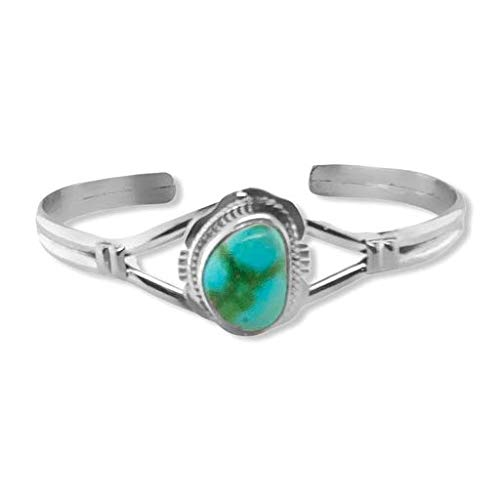 Genuine Sonoran discount Gold Turquoise Cuff A Silver Max 75% OFF Bracelet Sterling