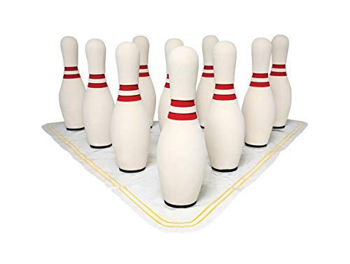 Sportime UltraFoam Bowling Pin Set with Set up Mat - 15 Inch